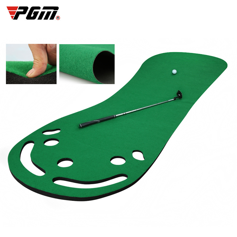 PGM Indoor Home Practice Golf Putting Mat Golf Training Aids  Training Putter Mat Putting Green With 5 Holes
