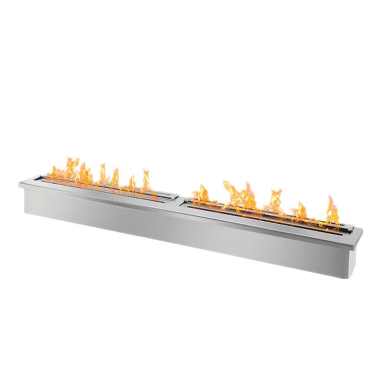 62 Inch Manual Burner  Modern Fireplace Ethanol