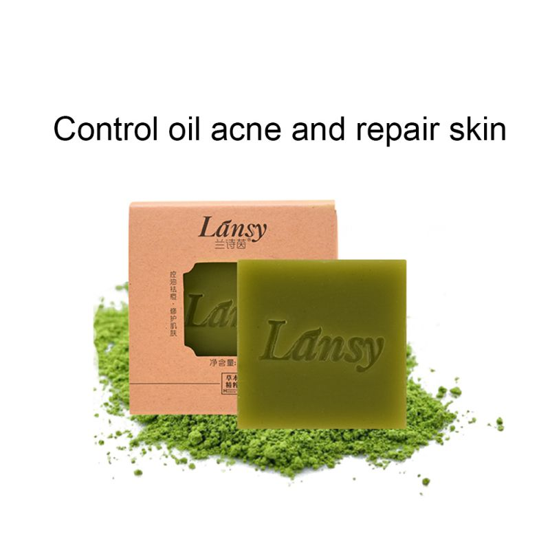 Matcha Handmade Soap Herbal Essential Oil Soap Whitening Skin Remove Acne Deep Cleansing Face Hair Care Bath Body Care