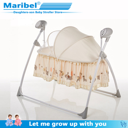 Newborn rocking bed with music baby electric cradle sleep basket shake bed 0-24 monthbaby intelligent sleep swing bed free shipp