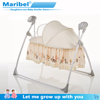 Newborn rocking bed with music baby electric cradle sleep basket shake bed 0 24 monthbaby intelligent sleep swing bed free shipp