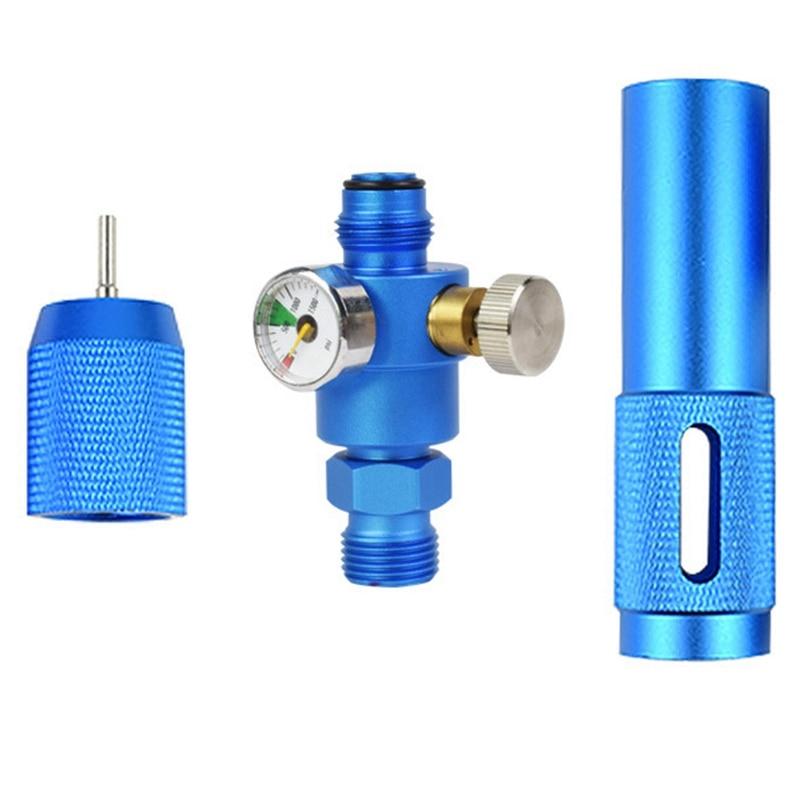 Портативный Co2 12 г цилиндр специальный насос с манометром функция регулировки регулируемый портативный Co2 дополнение с прессом