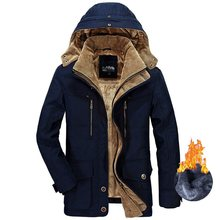 Casaco militar inverno parkas jaqueta masculino engrossar quente 40 graus algodão-acolchoado jaquetas com capuz casaco parka
