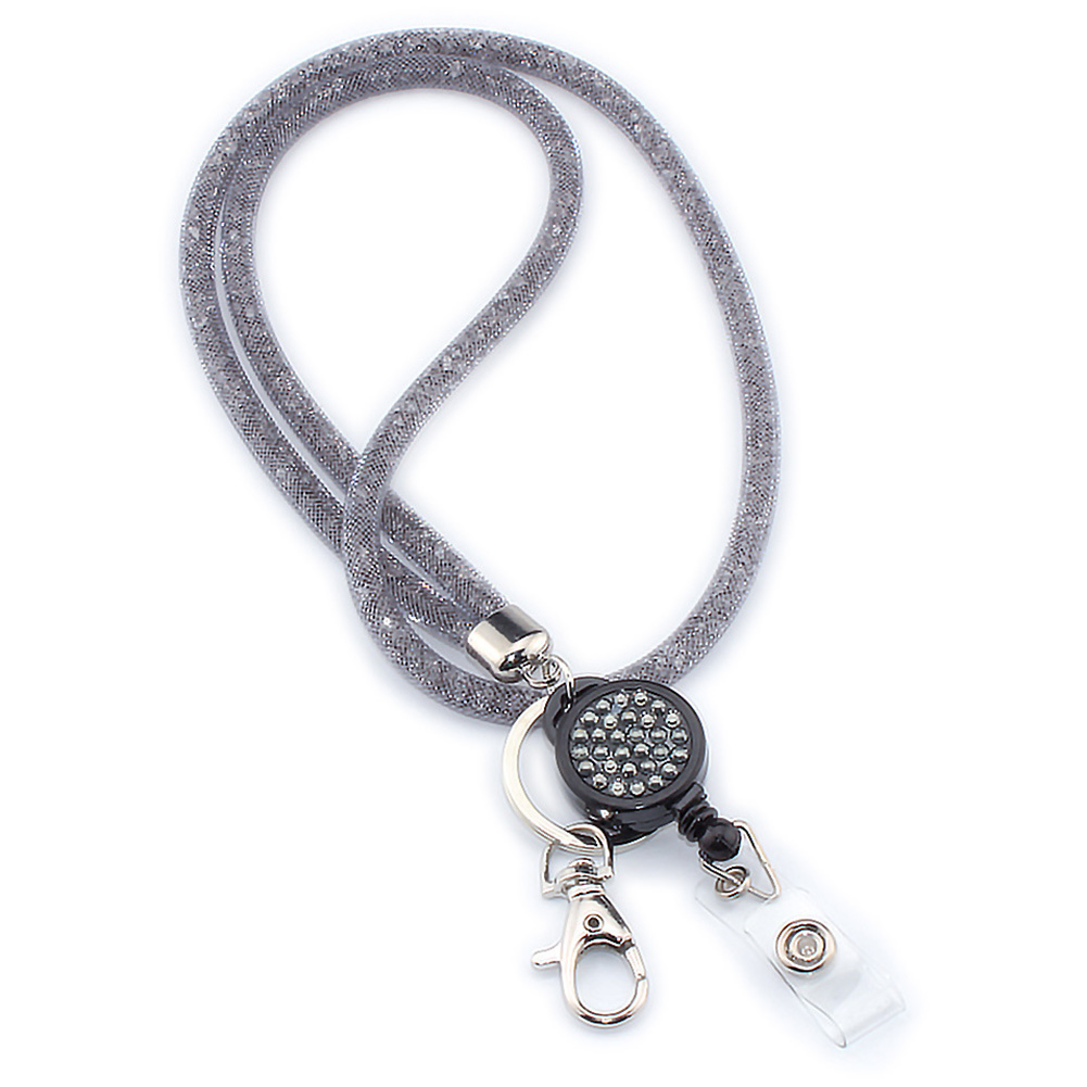 Lightweight Camera Crystal Mobile Phone Holder Mesh Necklace Strap Badges Office Hanging Rope For Cellphones Keychain Lanyard #2