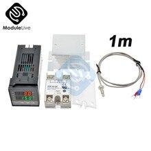 REX-C100 sortie de relais de Thermostat de contrôleur de température numérique PID + relais SSR Max.40A + sonde de Thermocouple K RKC de haute qualité