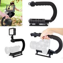 U shape Handheld Camera Bracket Handle Grip Stabilizer for Canon DSLR Camcorder Video Photographic Lighting Holder