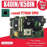 stable quality! send T7500 cpu for asus K40IN K40IP K50IN K50IP K50AB K40AF K50AF K40AB K40AD K50AD laptop motherboard