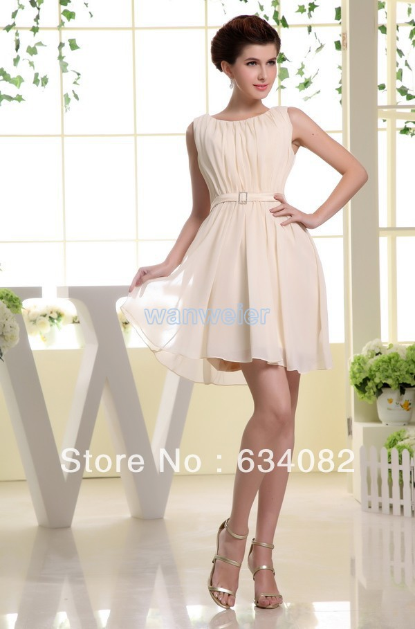 Free Shipping Brides Maid Dresses 2016 Champpagne Bandage Vestidos Formales Dress Short Modest Bridesmaids Dresses Sleeves