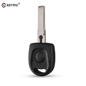 KEYYOU Transponder Key Case No chip For VW Polo Golf for SEAT Ibiza Leon for SKODA Octavia shell