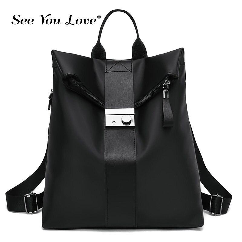 Fashion Women Backpack Luxury Brand Solid Color Ladies Backpacks Girls Schoolbag Large Capacity Flexo Big Student Shoulders Bags