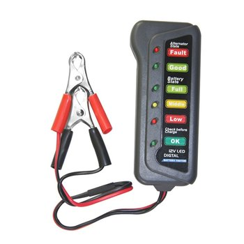 Portable 6/12V Battery Load Tester Alligator Clip Heavy Duty Car Truck Checker Determine Load Battery Condition for Mechanic image