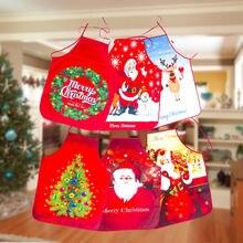 Новый Снеговик новогодний фартук рождественские украшения печать