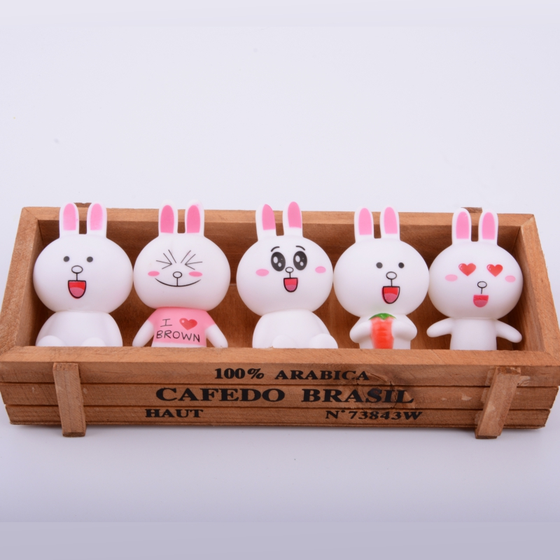 Cute Bear Plush Korea Toy Rabbit silicone Doll Friend kids collection model for kids