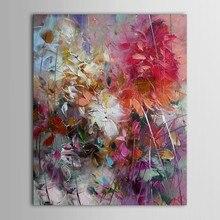 Büyük 100% el boyalı çiçek mor soyut yağlıboya Modern duvar sanatı oturma odası hiçbir çerçeve resim ev dekorasyon boyama