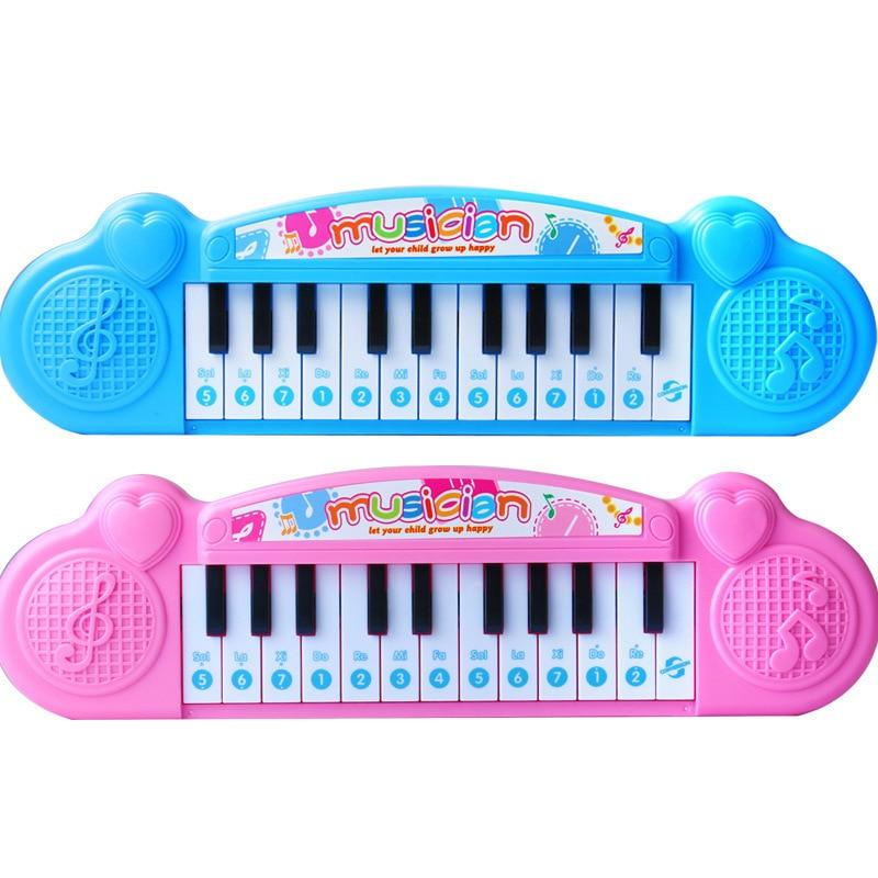 Kids Piano 21 Keys Mini Electronic Organ Musical Piano Teaching Keyboard Educational Toys For Kids Children Birthday Gift(China)