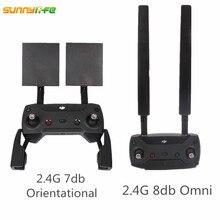 Para dji mavic pro montagem da antena extensor combinado faixa 2.4g 7db orientate 8db omni impulsionador de sinal mavic pro acessórios