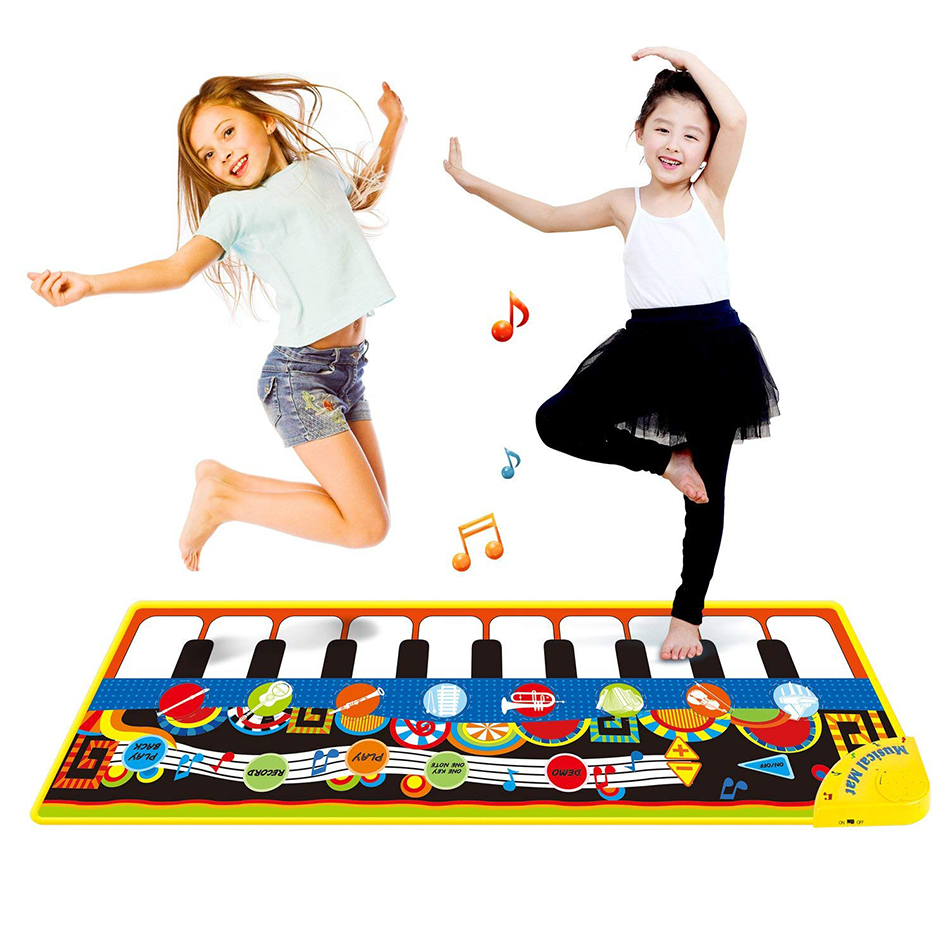 110x36cm Musical Piano Mat Baby Play Mat Toy Musical Instrument Mat Game Carpet Music Toys Educational Toys For Kids Xmas Gift