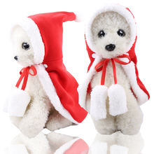 Christmas Pet cloak Cat Clothes Dog Costume Santa Claus Winter Coat Apparel Cotton for dog