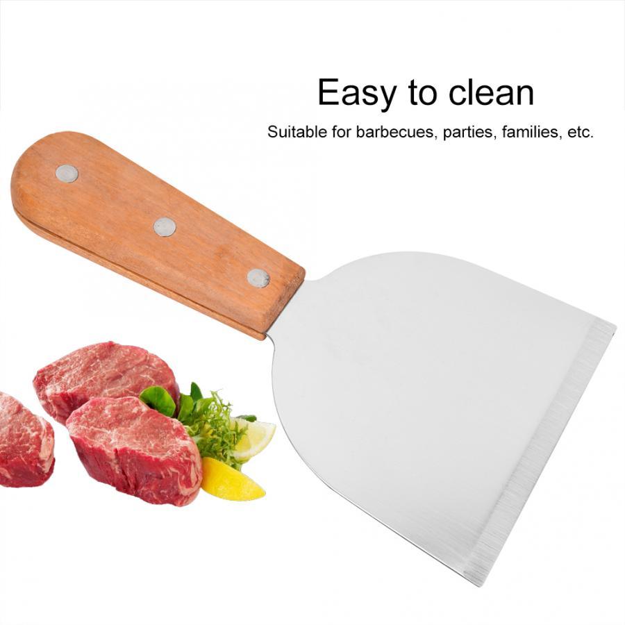 Нержавеющая сталь барбекю скребок для решетки для гриля кухня приготовление стейка жареная Лопата блины Флиппер Приготовление барбекю инструмент гаджеты