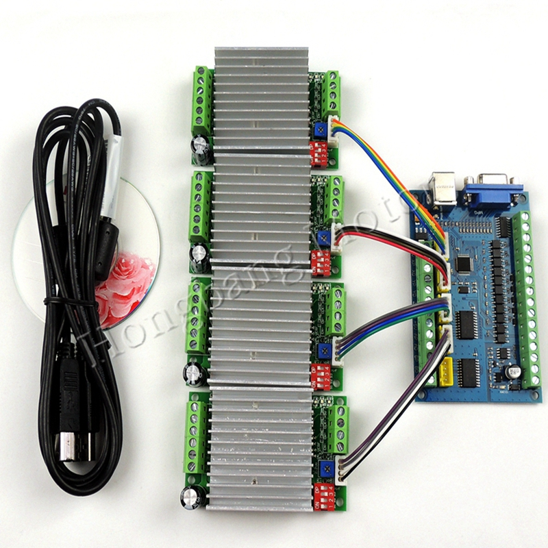 CNC 5 Axis 100KHz Smooth Stepper Motion Control Card Suitable for Engraving Machine