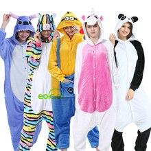 Dinosaur Pyjamas Unicorn Girls Set Adults Sleepwear Onesies Animal-Panda Kigurumi Winter