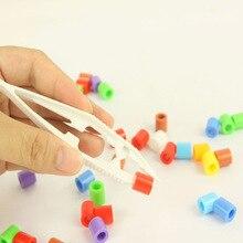 Пластик бусины пинцет для головоломки сборка инструмент DIY игрушка зажим зажимы модель строительство комплекты дети Монтессори обучающие дети игрушки