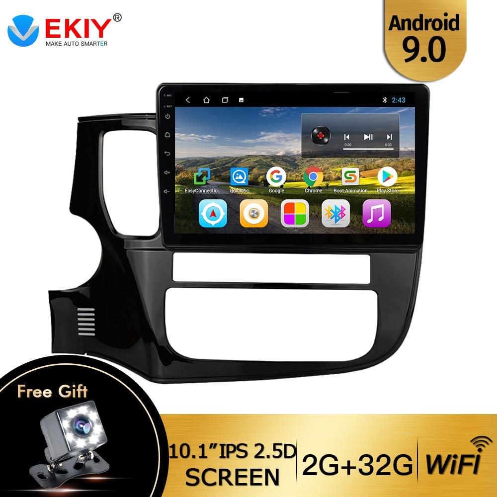 EKIY 10,1 ''Android 9,0 автомобильный Dvd Gps мультимедийный плеер для Mitsubishi Outlander Xl 3 автомобильный Dvd Навигатор Радио Видео Аудио плеер