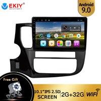 EKIY 10.1'' Android 9.0 Car Dvd Gps Multimedia Player For Mitsubishi Outlander Xl 3 Car Dvd Navigation Radio Video Audio Player