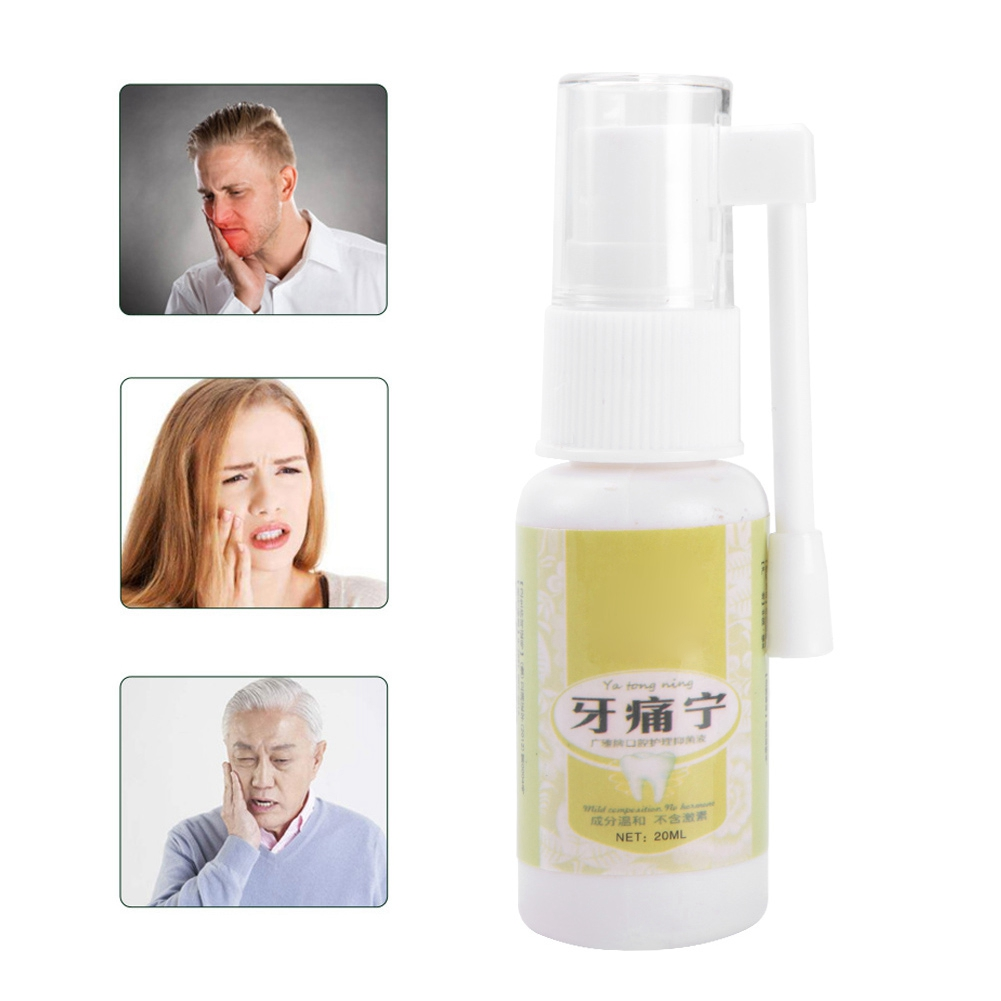 20ml Oral Care Dental Tooth Prevent Toothache Pain Relief Teeth Care Sprays With Cotton Swabs Easy To Carry Around