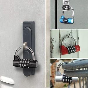 Multifunctional Combination 4 Digit Security Padlock Gym Locker Drawer Luggage Cabinet Toolbox Door Lock Door Padlock