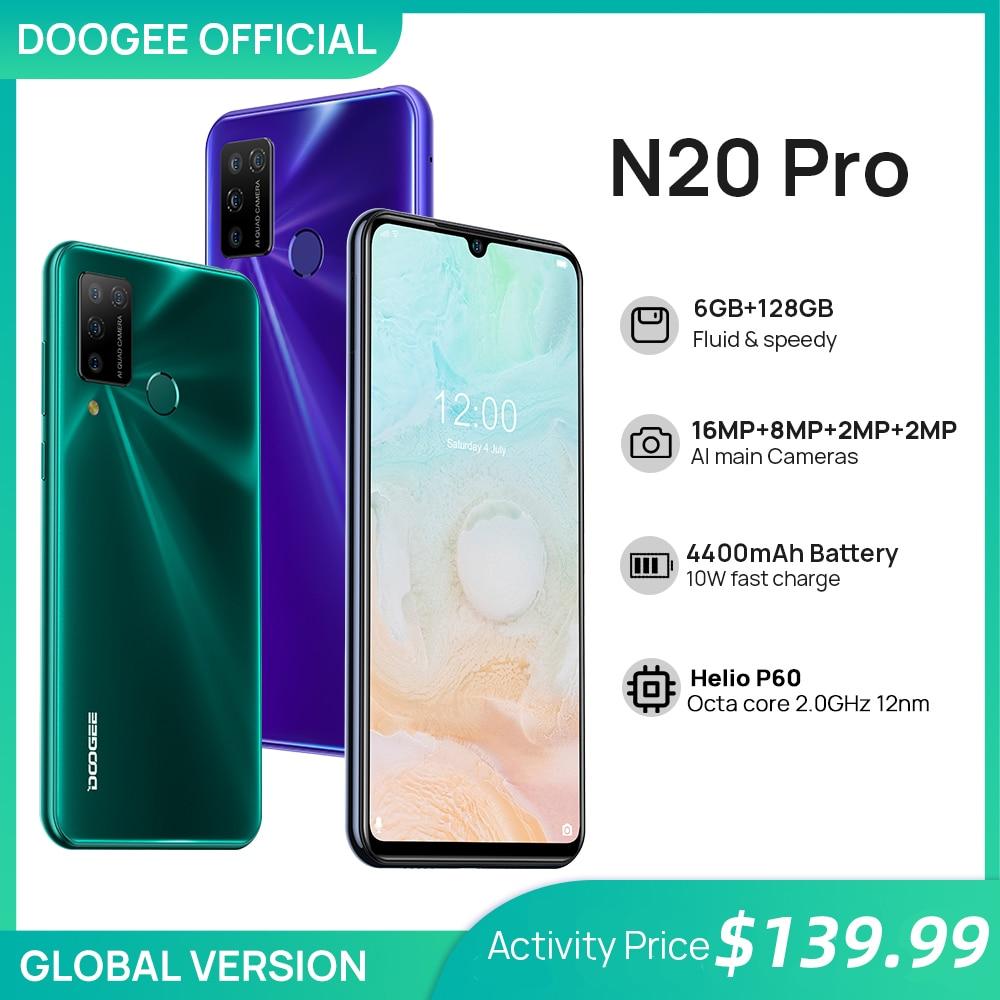 DOOGEE N20 Pro Quad Камера мобильных телефонов Helio P60 Octa Core 6 ГБ Оперативная память 128 Гб Встроенная память глобальная версия 6,3