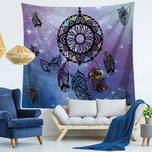 Dream Catcher Printed Wall Hanging Tapestry Background Decoration Wall Carpets Dorm Decor Psychedelic Tenture Tapisseries psychedelic brick dorm decor wall hanging tapestry