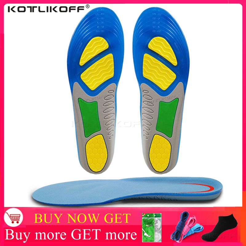 Sport Running Silicone Gel Insoles Foot Care For Plantar Fasciitis Orthopedic Massaging Shoe Inserts Shock Absorption Shoes Pads