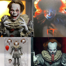 NECA 7 Inch It: 제 2 장 Ultimate Pennywise 액션 피규어 Stephen King's Joker Clown IT Pennywise 피겨 모델 장난감 선물 인형(China)