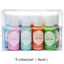 QIAOQIAO 9colors/set solid resin dye Epoxy Resin Pigment UV Coloring Dye Colorant DIY Handmade Crafts Art