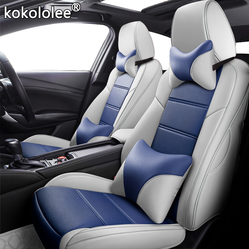 kokololee Custom Leather car seat cover For AUDI A4 A3 A6 Q3 Q5 Q7 A1 A5 A7 A8 TT R8 Automobiles Seat Covers cars seats protect