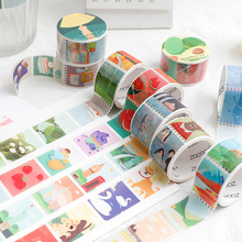 Scrapbooking Stickers Stamp Washi-Tape Hand-Account Vintage Cartoon Coffee-Plant-Decoration