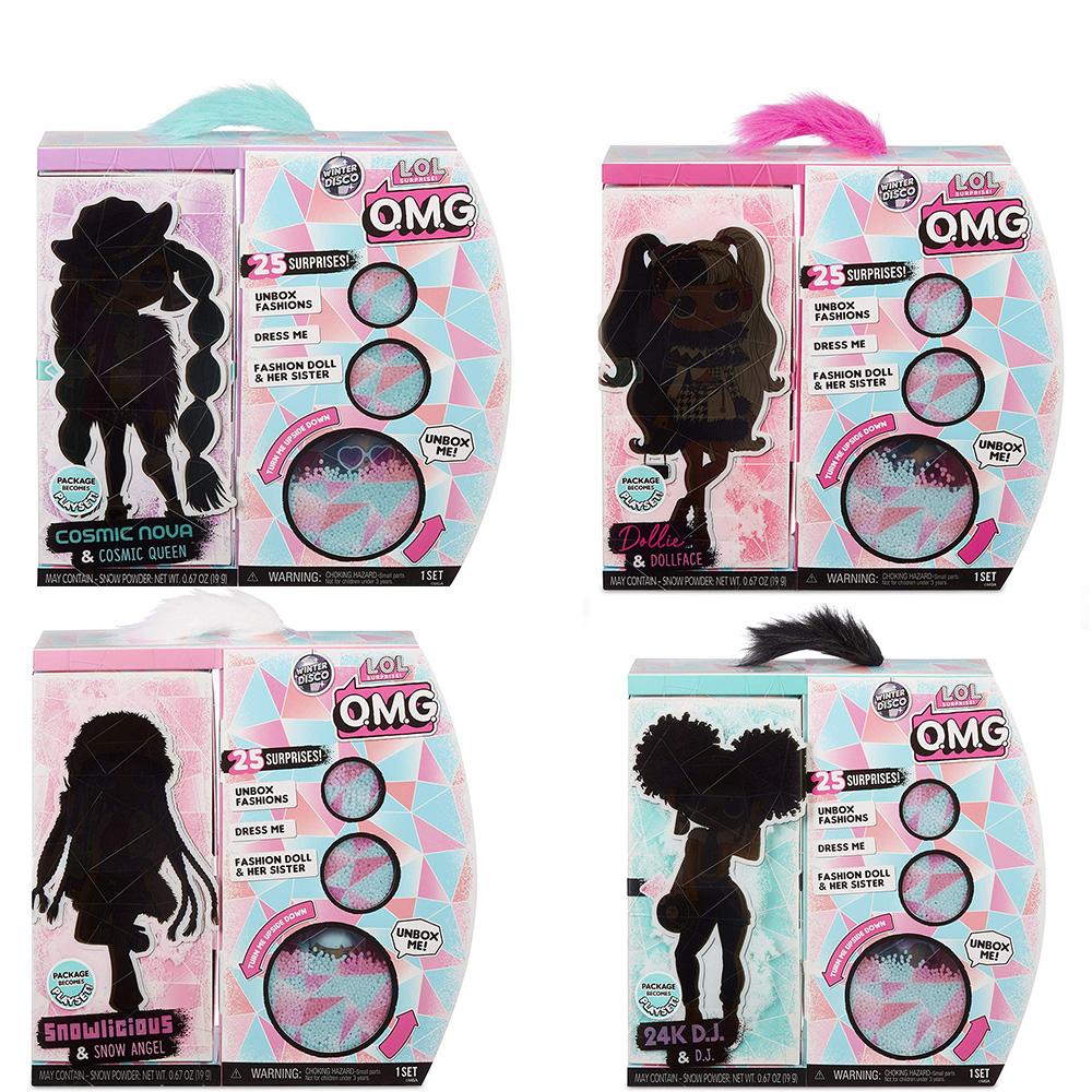 4 Set L.O.L Surprise! O.M.G. Winter Disco Fashion Doll & Sister LOL OMG For Kids Toy Christmas gifts for children