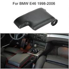 Car Center Console Armrest Fiber Leather Cover Replacement Kit for BMW E46 1998-2006 Car Armrest Automotive Interior Accessories