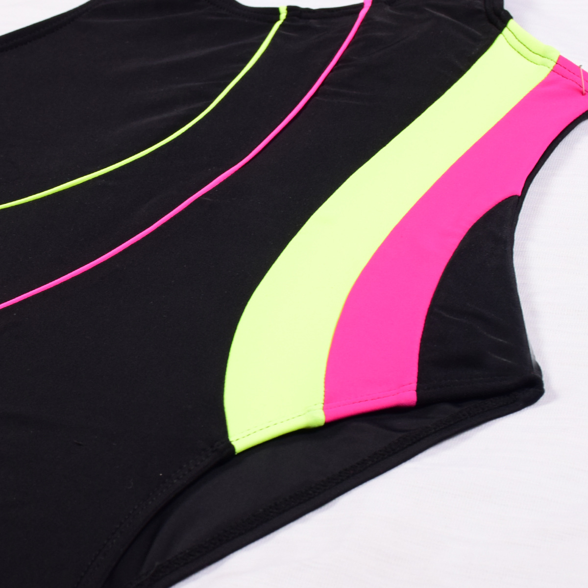 Europe And America Hot Selling Children Triangular Racing Sun Blocking Bathing Suit One-piece Students Training Surfing Suit