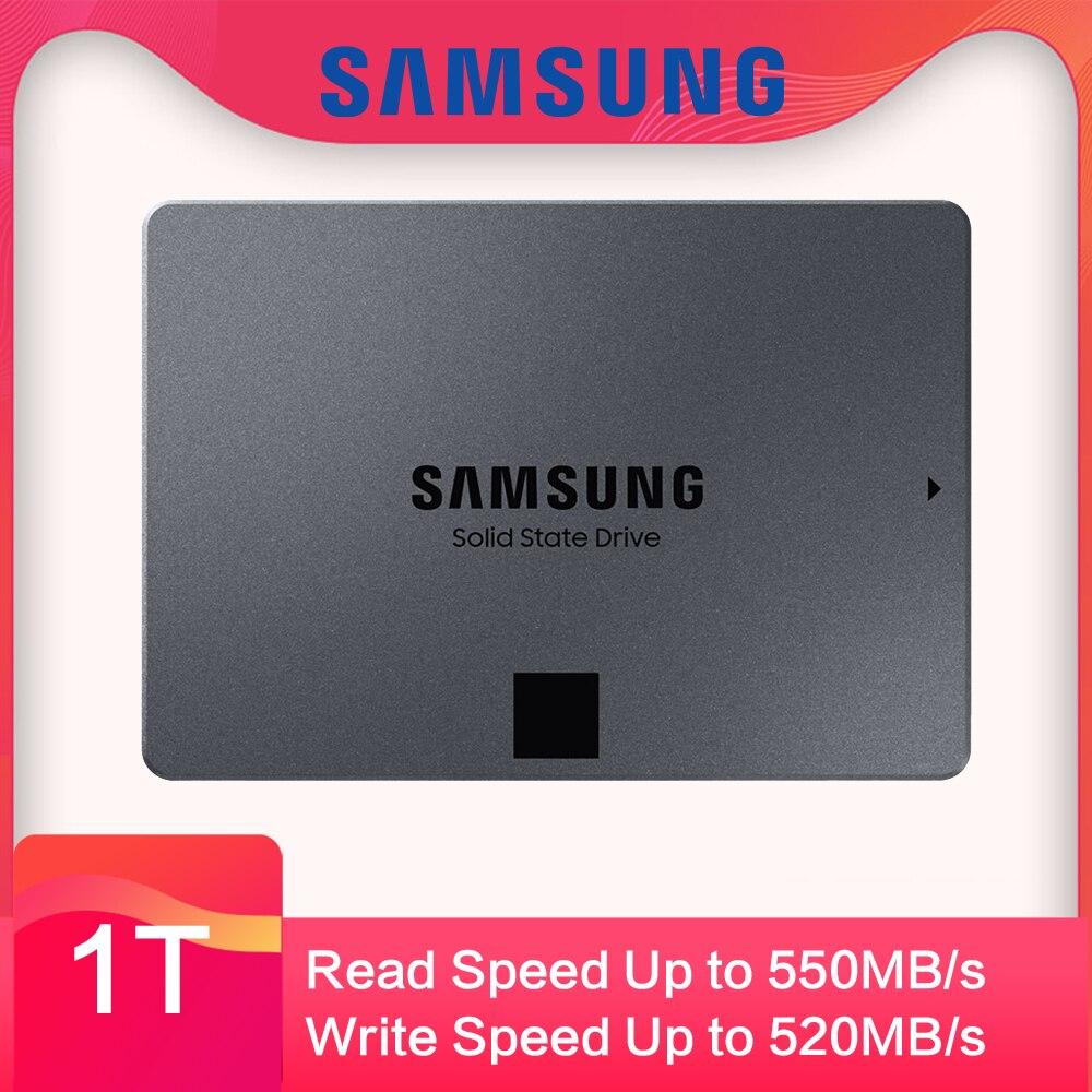 SAMSUNG SSD 860 QVO 1 to 2 to disque SSD interne HDD 2.5 pouces SSD SATA3 V-NAND pour ordinateur portable ordinateur de bureau MLC disque dur