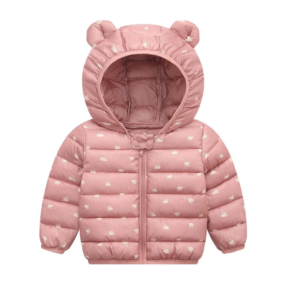 Winter Coats Kids Hoods Light Puffer Down Floral Jacket Thick Warm Outerwear Little Boys Girls Infants Toddlers