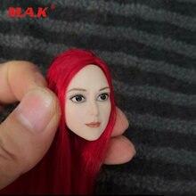 1/6 женская красная голова из волос лепка аниме красивая модель