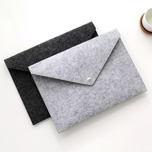 Filcowa torba na dokumenty na zamówienie A4 filcowa torba na komputer torba na dokumenty teczka na dokumenty materiały do przechowywania torba na guzik pokrowiec na dokumenty torba na laptopa tanie tanio 34*24cm XMH087