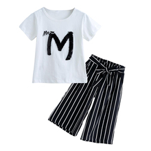 Short Sleeve + Pants Set Kids Outwear Baby Girls Clothes