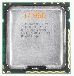 Free shipping Original Intel Core I7 960 Processor 3.2GHz Quad Core LGA 1366 130W 8M Cache Desktop i7-960 CPU