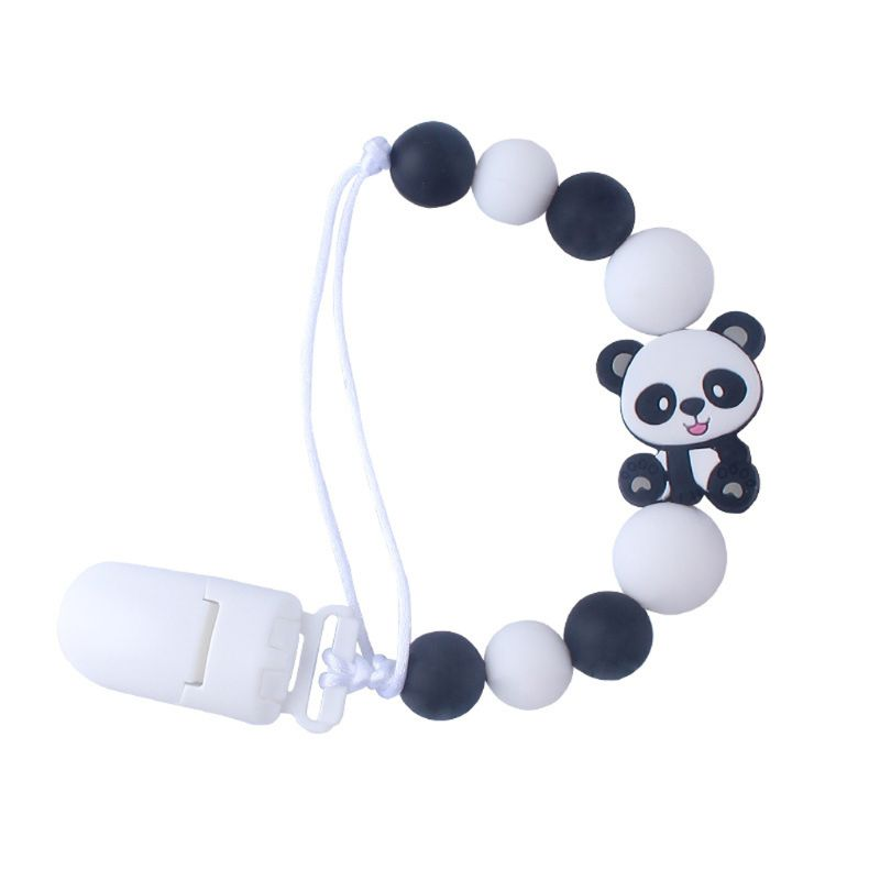 Baby Pacifier Clips Panda Pacifier Chain Holder For Soother Chew Toy Dummy Clips U50F