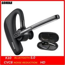 Écouteurs sans fil Bluetooth k10, mains libres, avec stéréo, réduction du bruit
