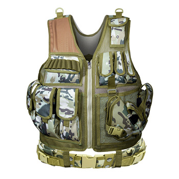 Tactical Vest Military Combat Armor Vests Mens Tactical Hunting Vest Army Adjustable Armor Outdoor CS Training Vest Airsoft 4