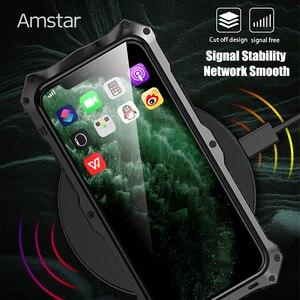 Image 5 - Amstar 360 pełna ochronna obudowa pancerza dla iPhone 11 Pro Max metalowa rama silikonowa, odporna na wstrząsy pokrywy skrzynka dla iPhone X XS Max XR